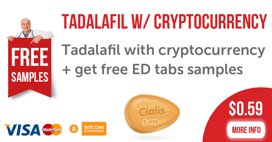 Tadalafil with cryptocurrency