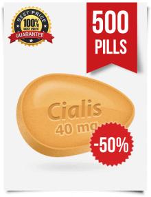 Cialis 40mg online 500 pills | BuyEDTabs