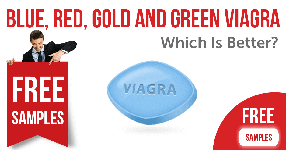 Blue, Red, Gold and Green Viagra: which is better | BuyEDTabs
