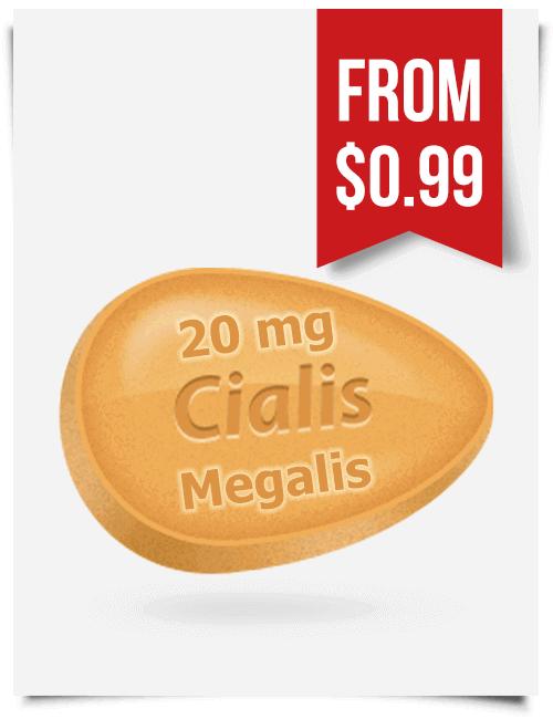 Megalis 20 mg | BuyEDTabs