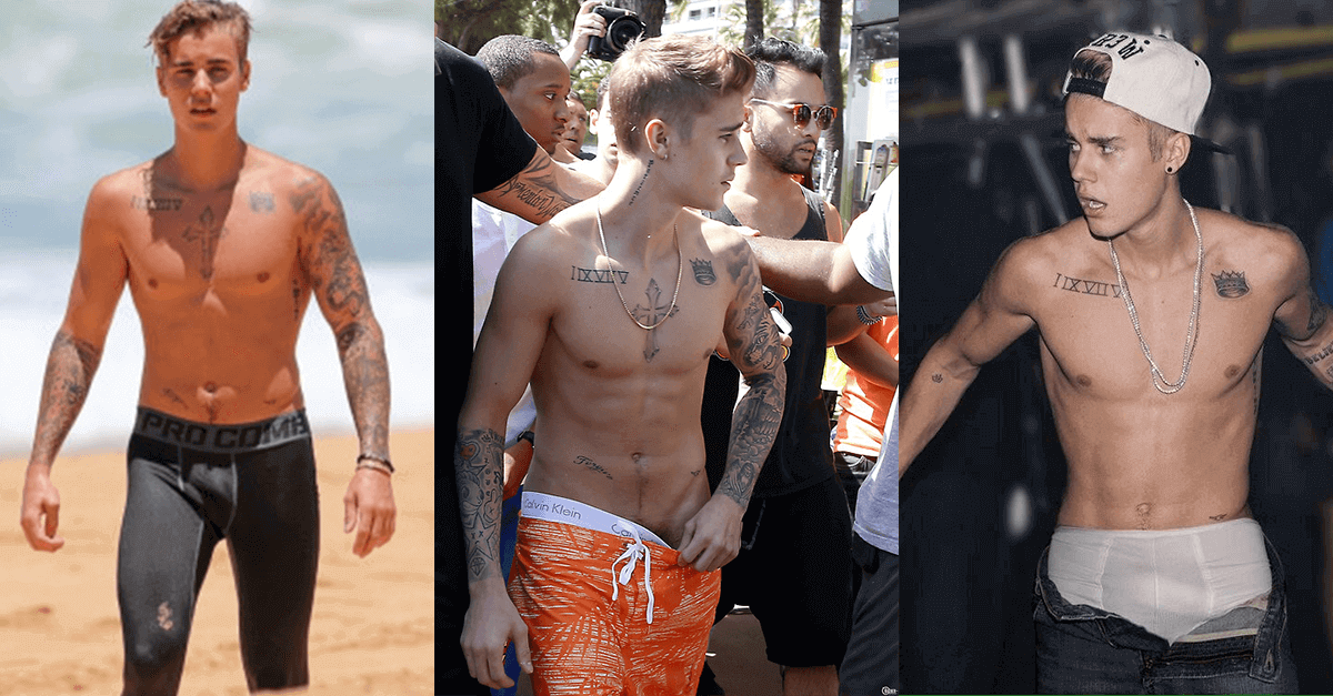 Justin Bieber shirtless photos