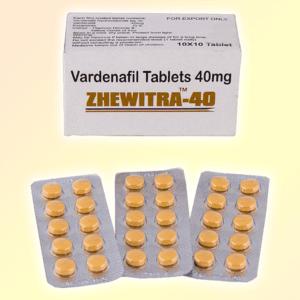 Zhewitra 40 mg vardenafil tablets
